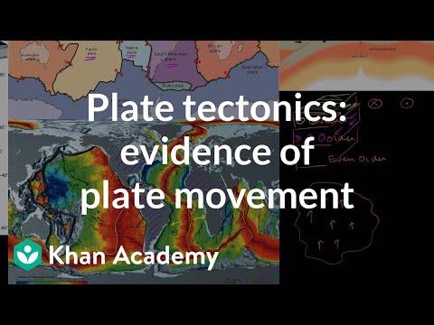 Plate tectonics: Evidence of plate movement | Cosmology & Astronomy | Khan Academy
