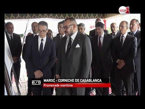 Le Roi lance les travaux d'aménagement de la promenade maritime de la Mosquée Hassan II