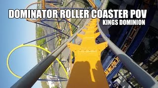Dominator Roller Coaster POV Front Seat 60FPS Kings Dominion VA