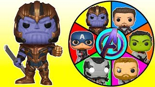 Avengers Endgame Spin the Wheel Game with Thanos, Hulk, Iron Man Toys