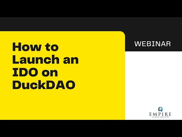 How to Launch an IDO on DuckDAO