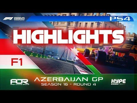 Highlights: F1 2018 | AOR Hype Energy S16 PS4 F1 | R4: Azerbaijan GP