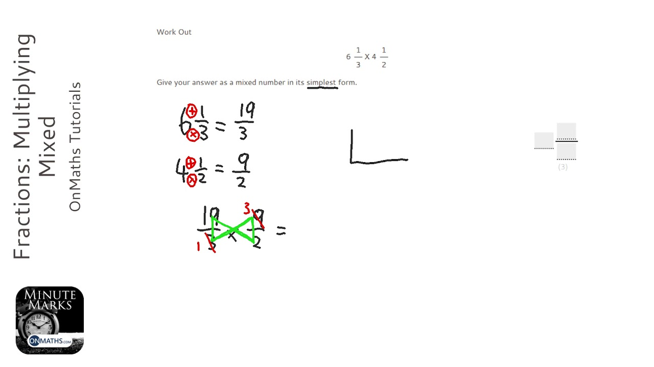 fractions  multiplying mixed  grade 4  - onmaths gcse maths revision