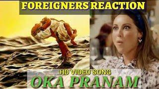 Foreigners Reaction on OKA PRANAM - Full Video Song of BAHUBALI : The Beginning