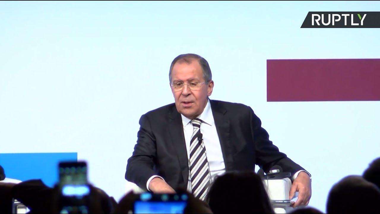 Лавров выступает на конференции «Средиземноморье: римский диалог»