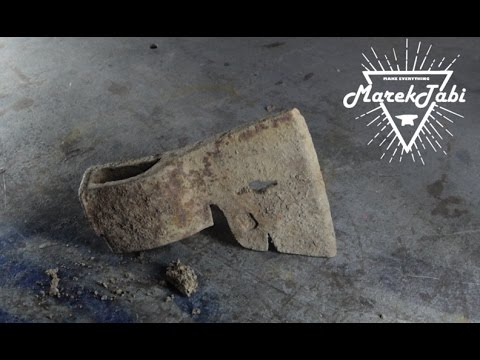 Very Rusty Old Axe Restoration