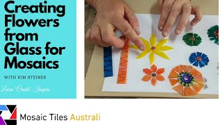 Stained glass flowers how to for Mosaic work