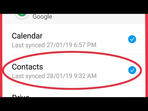 How To Restore And Backup Or Sync Contacts Google Account On Android