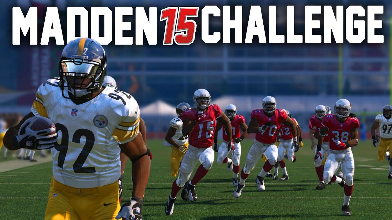 c7db5cf02ea Madden 15 NFL Challenge - James Harrisons 100 YD Pick Six! - YouTube