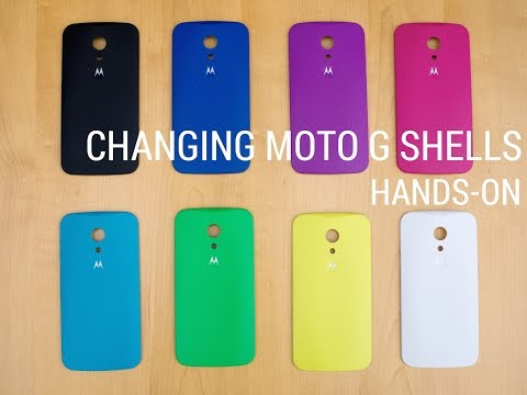 Changing the new Moto G Shells