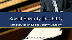 Age Effect on Social Security Disability Insurance