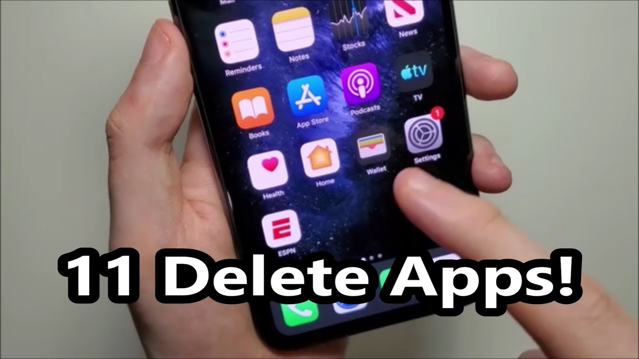 Iphone 11 How To Delete Apps Youtube