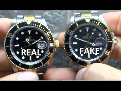 How to Spot a Fake Rolex - Comparing a Real to a Fake