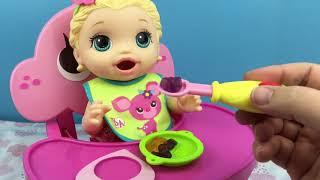 Feeding Baby Alive Snackin Lily Doll Haribo Gummies