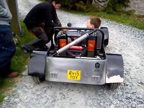 kids lotus 7 kit car test drive part 4 youtube. Black Bedroom Furniture Sets. Home Design Ideas