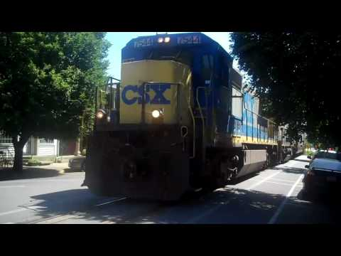 CSX Freight Train down Main Street LaGrange, KY