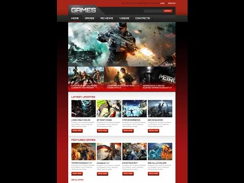 Online games website template