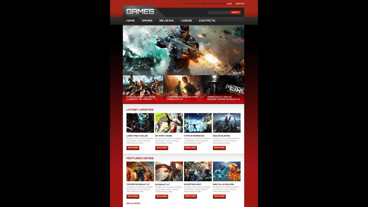 13+ Best Gaming Website Template - YouTube