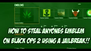 How To Steal Anyone's Emblem On Black Ops 2 - CFW Only - Voice Tutorial w/ Downloads