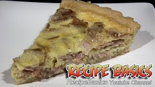 Easy Ham Cheese And Onion Quiche Recipe