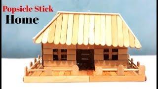 Cara Membuat Miniatur Rumah Sederhana Modern Dari Stik Es Krim