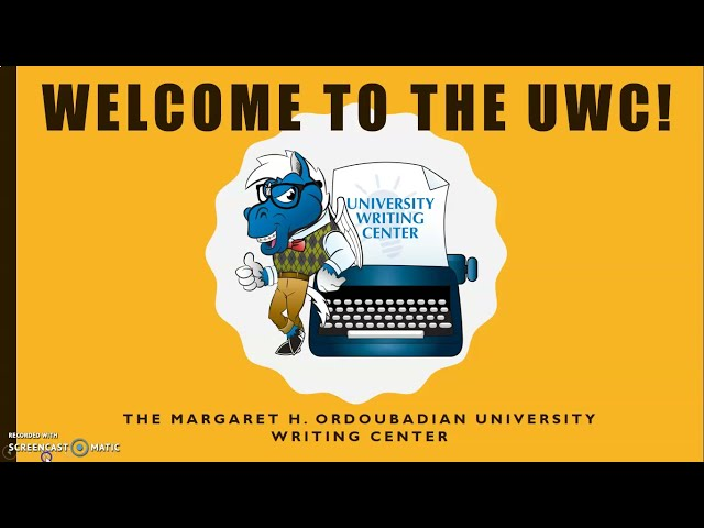 Welcome to the University Writing Center (Fall 2021)