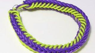 Браслет из резинок видеоурок по плетению из резинок Rainbow loom Без станка Подарки Поделки с детьми