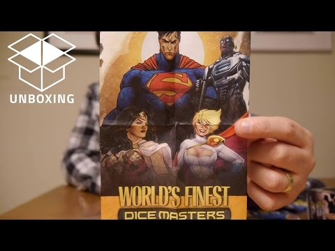Unboxing and Early Look of DC Dice Masters: World