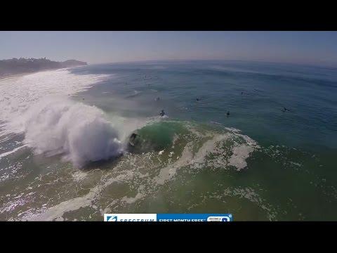 Reef McIntosh Surfing Zuma on Big Wednesday - Drone Footage