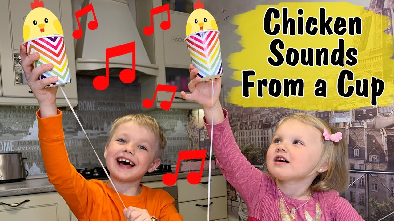 Sound science Experiment - Chicken Sounds From a Paper Cup