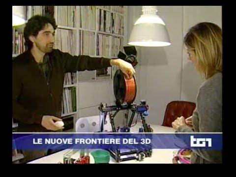 TG1 28 marzo 2014 ore 20 - Alessandro Ranellucci e la stampa 3D