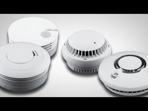 Kammer Rauchmelder Metall Feuer Sicherheit Quelle Silbern Gerät Sensor Smart