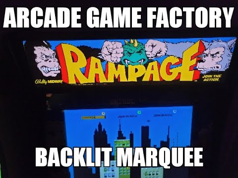 Arcade1Up Backlit Marquee from The Arcade Game Factory from TechnoBilly