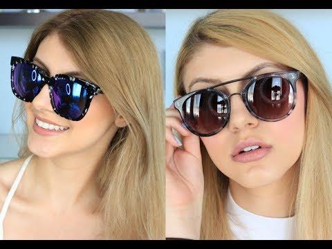 2d8461d20d Sunglasses Try On Haul   Giving Back - YouTube
