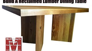 Build A Table From Reclaimed Lumber - 034