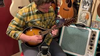 2000s Johnson MA-110 oval-hole archtop mandolin