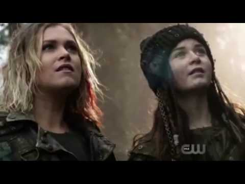 "The 100 - Temporada 4x13/ Cena final / Clarke avista um super nave "" praimfaya """