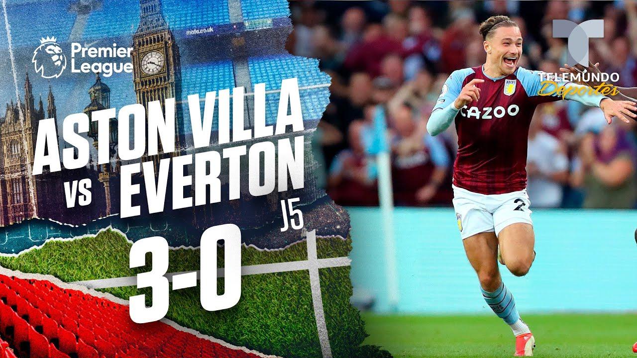Download Highlights & Goals   Aston Villa vs. Everton 3-0   Premier League   Telemundo Deportes