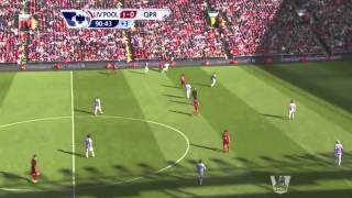 Liverpool v QPR- Liverpool fans singing YNWA to Carragher during his last game.