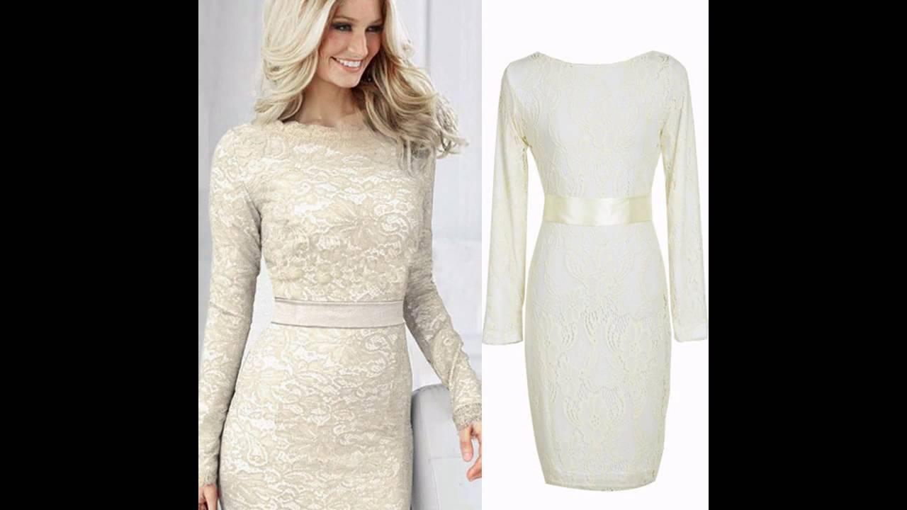 61f5f5b7ce Las últimas tendencias en Moda de vestido blanco elegante - YouTube
