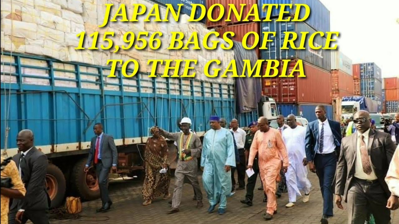 GAMBIA NEWS - Japan donated 115,956 bags of rice to support Gambians