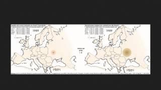 Stężenie izotopów promieniotwórczych po wybuchu elektrowni jądrowej w Czarnobylu