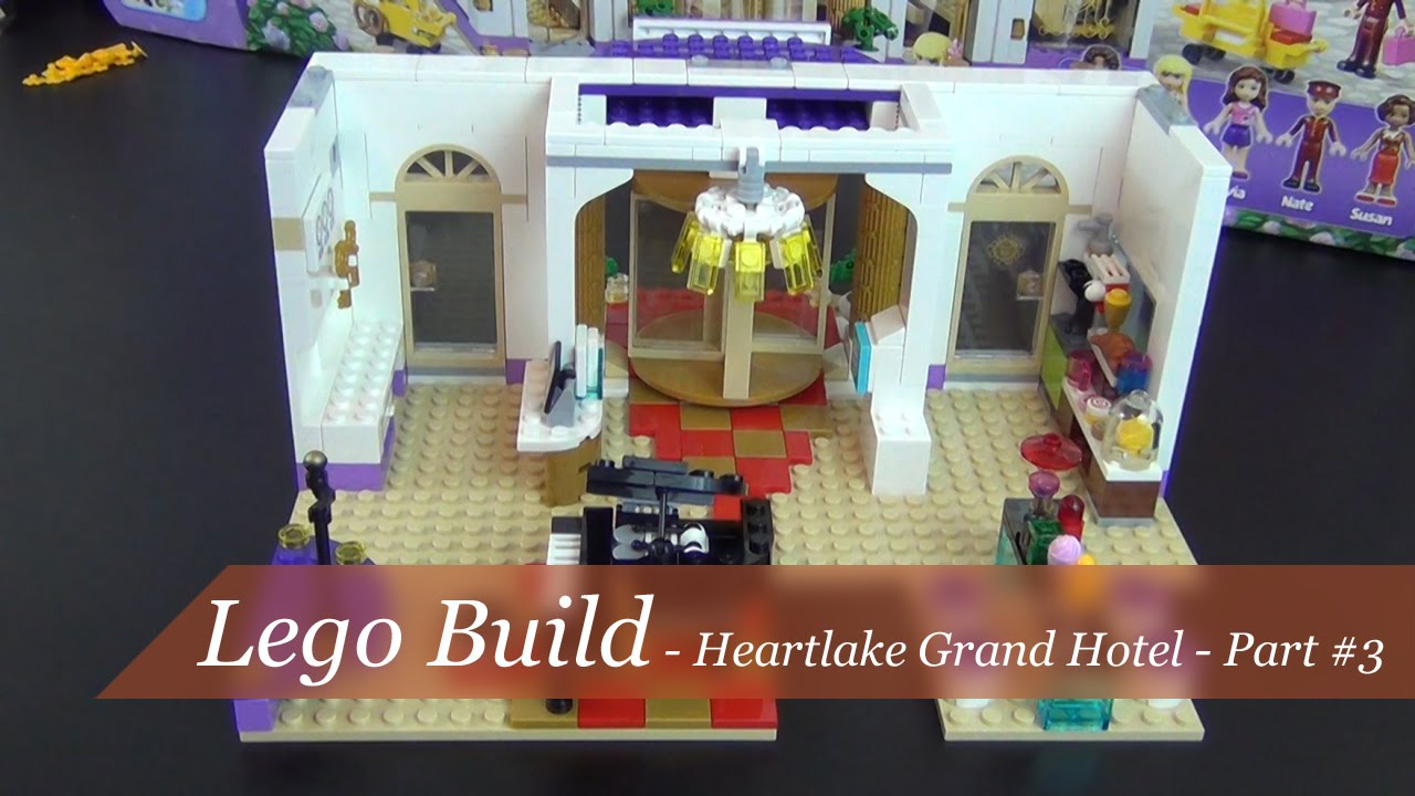 Lego Friends Heartlake Grand Hotel Build Part 3 Set 41101 Youtube