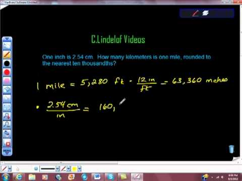 Converting Miles To Inches To Cm To Km