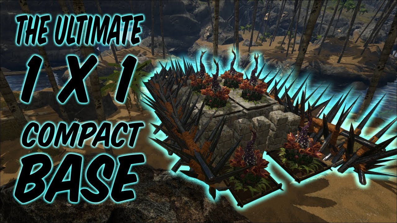 Ultimate Solo 1x1 Mid Level Base | ARK Survival Evolved