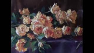 Обучение Живописи.Видеоуроки.Желтые розы