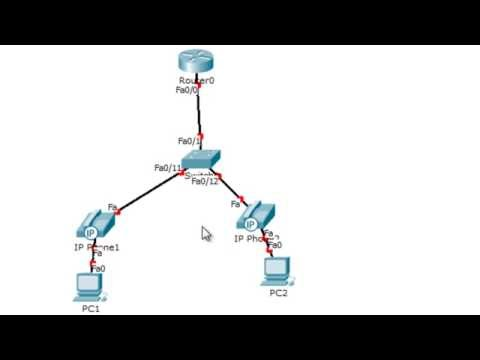 CCNA Voice – How to setup a basic Voice Over IP network in Packet Tracer