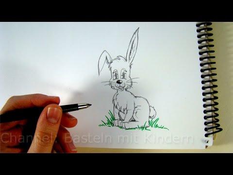 zeichnen lernen osterhase zeichnen hasen mit bleistift zeichnen kaninchen malen f r ostern. Black Bedroom Furniture Sets. Home Design Ideas