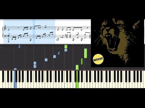 Ratatat - Nostrand (Piano Tutorial + Sheet Music)