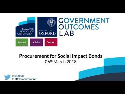 GO Lab Procurement for Social Impact Bonds webinar - 06 March 2018